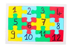 Puzzles blancs en carton - Lot de 10 - Puzzles à colorier – 10doigts.fr - 2