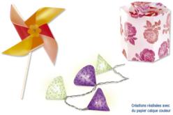Papier calque, effet vitrail - 10 couleurs assorties - Papier calque – 10doigts.fr - 2