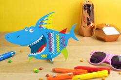 Carte Requin à tisser - Kits Mercerie – 10doigts.fr - 2
