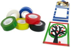 Ruban adhésif - 6 couleurs au choix - Adhésifs colorés et Masking tape – 10doigts.fr - 2