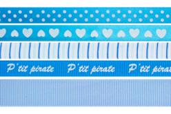 Rubans en camaïeu bleu - Set de 5 - Rubans et ficelles – 10doigts.fr