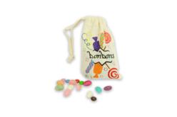 Pochette en coton avec fermeture par cordon - Coton, lin – 10doigts.fr - 2