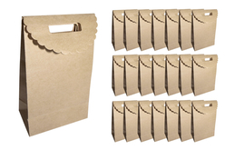 Petites pochettes Kraft - 24 pochettes - Boites cadeaux – 10doigts.fr