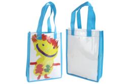 Sacs à personnaliser colorés - 6 sacs - Support textile à customiser – 10doigts.fr - 2