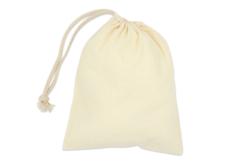 Petit sac coton à cordelette - Supports tissus – 10doigts.fr - 2