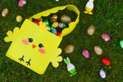 Sac poussin en feutrine jaune - Paniers de Pâques – 10doigts.fr - 2