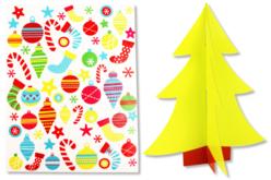 Sapin 3D à décorer avec des gommettes - Kits activités Noël – 10doigts.fr