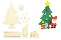 Scenette de Noël en bois à monter - Décorations de Noël en bois – 10doigts.fr - 2