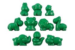 Moules animaux en plastique - Set de 10 - Moules – 10doigts.fr