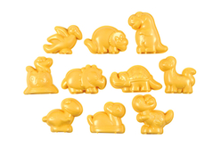 Moules dinosaure en plastique - Set de 10 - Moules – 10doigts.fr