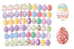 Set de 144 gommettes œufs de paques  aqarelles