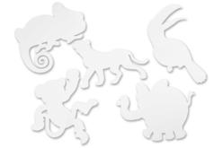 Silouhettes Animaux de la jungle - 16 formes - Supports blancs – 10doigts.fr