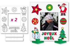 Set de 2 cadres photo Noël à colorier