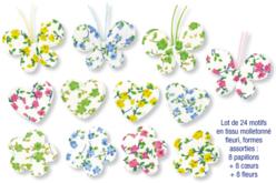 Motifs en tissu molletonné fleuri - Set de 24 pièces - Motifs en tissu molletonné – 10doigts.fr