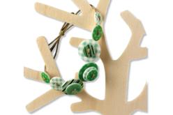 Boutons à motifs camaïeu vert - Set de 28 - Boutons – 10doigts.fr - 2