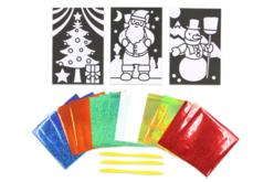 Cartes de Noël à métalliser - Set de 3 - Nouveautés de Noël 2021 – 10doigts.fr - 2
