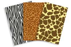 Papiers à encoller pelage animaux - 3 feuilles - Papiers Vernis-collage – 10doigts.fr