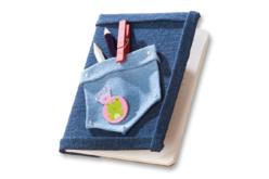 Tissus adhésifs effet jean - Set de 4 coupons - Tissus adhésifs – 10doigts.fr - 2