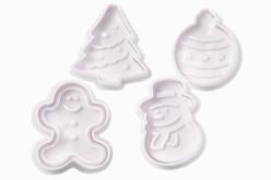 Tampons empreintes Noël - 4 motifs - Emporte-pièces – 10doigts.fr
