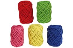 Bobines de jute naturelles - Set de 5 couleurs vives - Raphia et ficelles – 10doigts.fr - 2