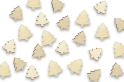 Sapins en bois - Lot de 50 - Motifs brut – 10doigts.fr