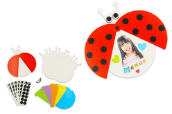 Set de 6 cartes coccinelles mobiles - couleurs assorties