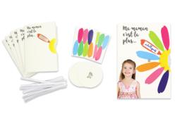 Cartes marguerite à message - 6 Cartes - Kits activités carteries – 10doigts.fr - 2