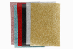 Feuilles transfert textile - 6 couleurs pailletées - Transferts et Thermocollants – 10doigts.fr