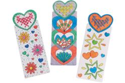 Marque-pages à broder et colorier - Set de 6 motifs - Marque-page – 10doigts.fr - 2