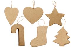 Ornements de Noël en carton - Set de 6 - Suspensions et boules de Noël – 10doigts.fr - 2