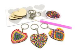 Kit porte-clés diamants - Lot de 6 - Porte-clefs, Anneaux, Mousquetons – 10doigts.fr