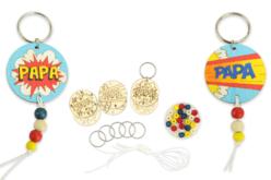 """Kit création de portes-clés papa """"Pop"""" - 6 réalisations - Bijoux, bracelets, colliers – 10doigts.fr - 2"""