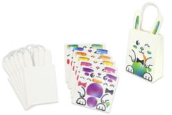 Sachets lapins + gommettes - 6 modèles - Kits activités Pâques – 10doigts.fr - 2