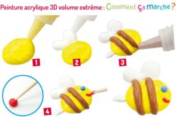 Stylos de peinture 3D volume extrême - 6 tubes 22 ml - Stylos peinture 3D – 10doigts.fr - 2