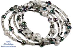 Rocailles en camaïeu argenté - 7000 perles - Perles de rocaille – 10doigts.fr - 2