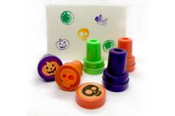 Set de 9 tampons Halloween motifs et couleurs assortis