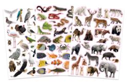 Gommettes animaux réalistes - 96 stickers - Gommettes Animaux – 10doigts.fr - 2