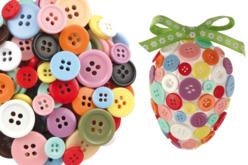 Set d'environ 300 boutons ronds en plastique, ø et couleurs assortis