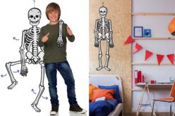 Squelette géant phosphorescent et articulé - Halloween – 10doigts.fr - 2