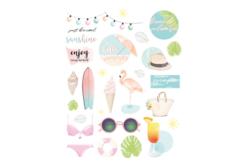 Stickers Summer Plage - 56 stickers - Décorations Printemps - Eté – 10doigts.fr - 2