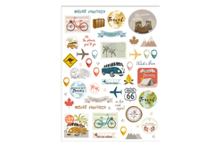 Stickers Voyages et vacances - 104 stickers - Stickers Fantaisies – 10doigts.fr - 2