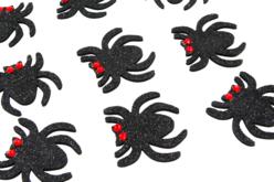 Stickers araignées pailletées - 12 pièces - Gommettes Halloween – 10doigts.fr - 2