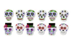 """Stickers """"Calaveras"""" mexicaines - 12 pièces - Formes en Mousse autocollante – 10doigts.fr"""