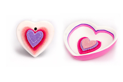 Stickers coeurs en feutrine - Formes en Feutrine Autocollante – 10doigts.fr - 2