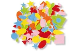Stickers en feutrine - 80 formes - Formes en Feutrine Autocollante – 10doigts.fr