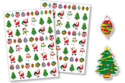 Gommettes Noël - 2 planches - Gommettes Noël – 10doigts.fr - 2