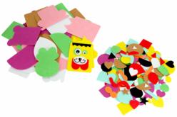 Animaux rigolos en feutrine - 1000 stickers à assembler - Formes en Feutrine Autocollante – 10doigts.fr - 2