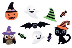 Stickers 3D en caoutchouc mousse - 10 pièces - Gommettes Halloween – 10doigts.fr