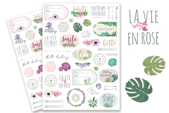 stickers la vie en rose