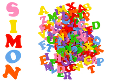 stickers lettres majuscules